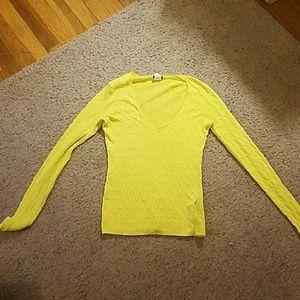 J. Crew neon yellow sweater